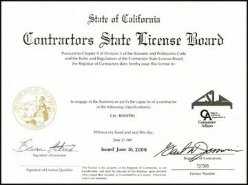 Menifee, CA Plumbing Contractor License